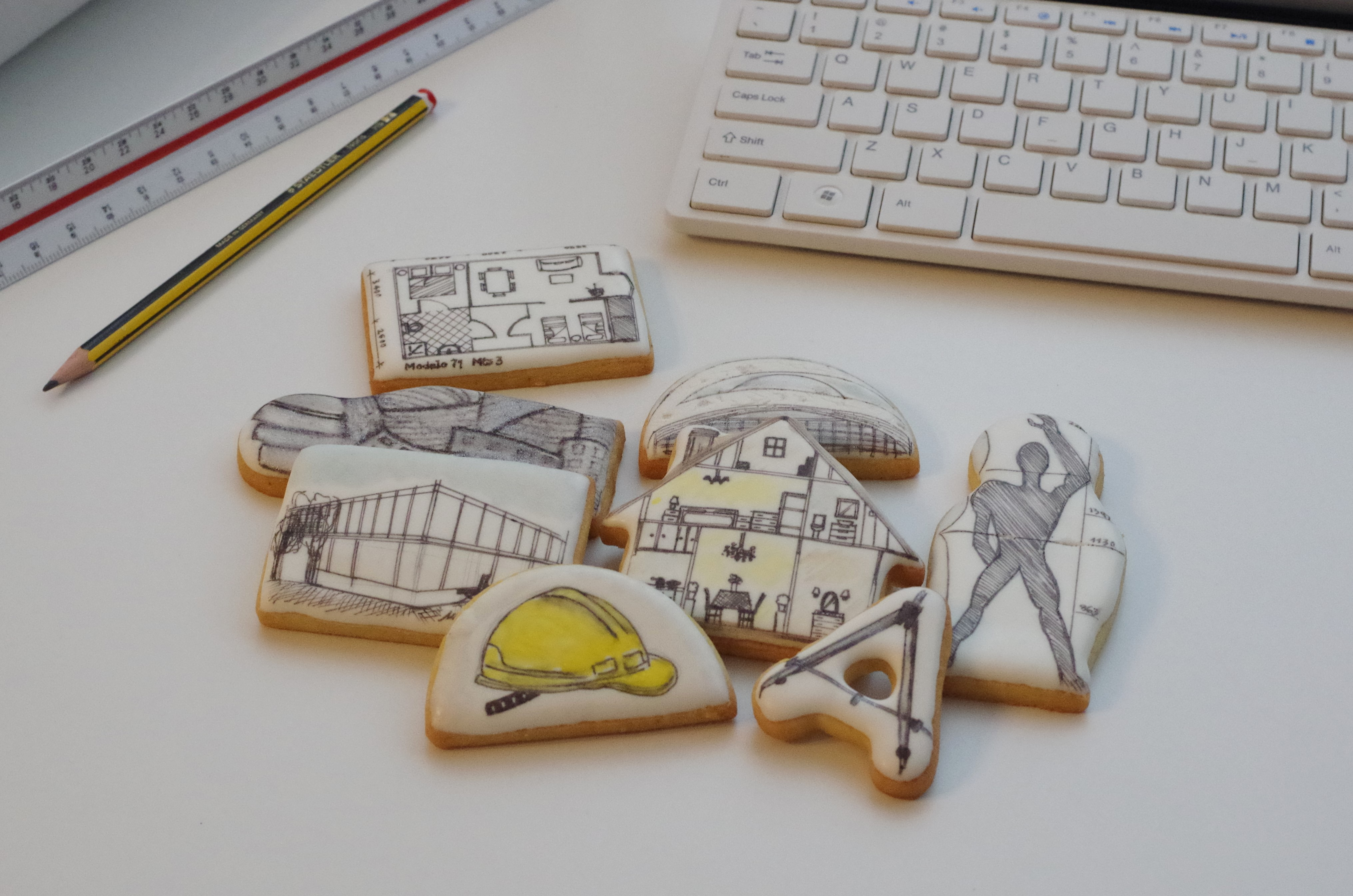 Galletas decoradas para arquitectos doctorcookies for Articulos de arquitectura 2015