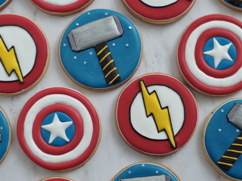 superhero cookies (15)